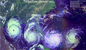 an introduction to hurricane andrew 10 introduction at 4:55 am august 24, 1992, the eye of hurricane andrew made landfall at 255 degrees north latitude in dade county, florida a radar image of the storm from the.