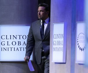 Onstage at the Clinton Global Initiative in New York City