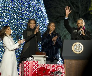 The Obamas light the National Christmas Tree in star-studded ceremony