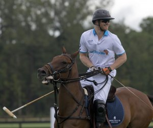 Prince Harry plays polo match in Florida