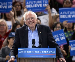 Bernie Sanders addresses rally at Cal State Dominguez Hills