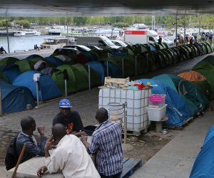 Paris Migrant Camp