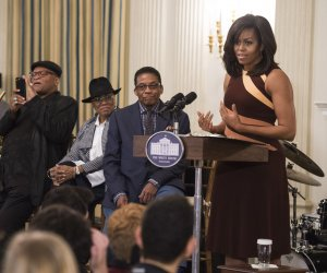 Michelle Obama hosts International Jazz Day celebration at the White House