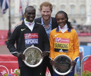 Sights along the route of the 2016 London Marathon