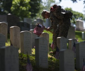 "The Old Guard honors America's fallen heroes with ""Flags in"" at Arlington Cemetery"