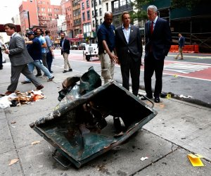 Cuomo and de Blasio visit blast site in Manhattan