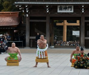 New Year's dedication at Meiji Shrine in Tokyo