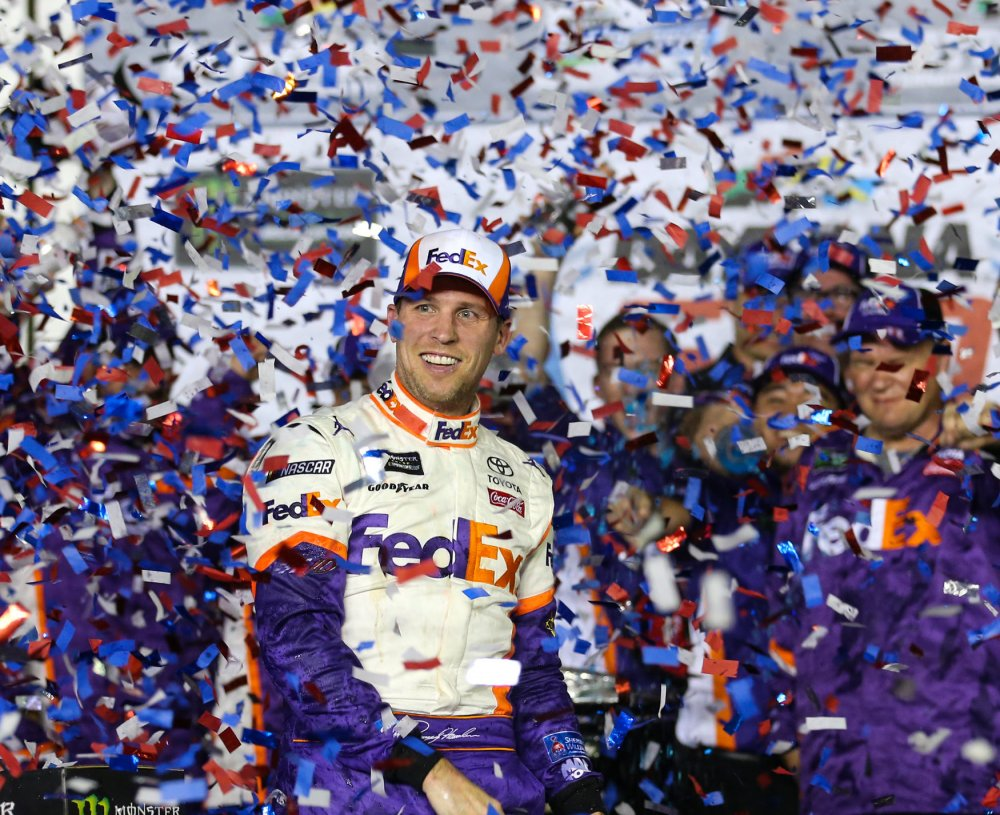 Denny Hamlin honors late J.D. Gibbs with win in Daytona 500