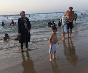 Palestinians celebrate Eid al-Adha on Tel Aviv Beach, Israel