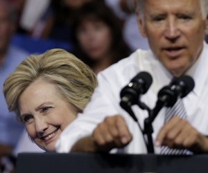 VP Biden joins Hillary Clinton on the campaign trail