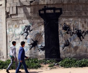 New Banksy murals in Gaza