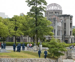 Increased security presence as President Obama prepares to visit Hiroshima