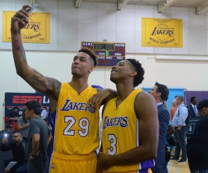 """<img src=""""/img/camera.png"""" style=""""padding: 5px 5px 0 0; display: inline;"""">Media day with the Los Angeles Lakers"""