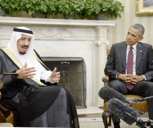 Saudi king meets with Obama, Biden and Kerry