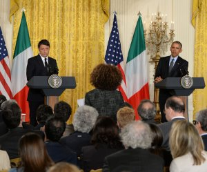 President Obama meets with Italian PM Matteo Renzi