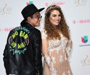 On the red carpet at the Premio Lo Nuestro awards