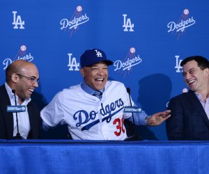 Dave Roberts is introduced as the Dodgers' new manager
