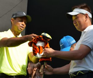 Tiger Woods promotes Nike in Japan