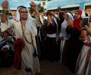 Palestinians celebrate their heritage in Khan Younis refugee camp