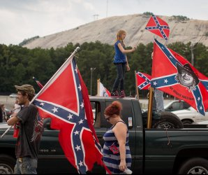 Confederate flag rally in Stone Mountain, Georgia