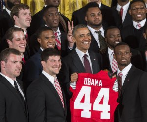 President Obama honors the Ohio State Buckeyes