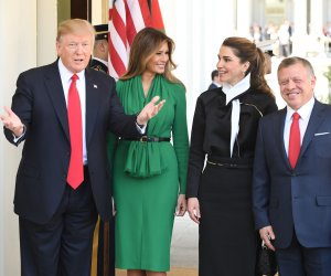 President Donald Trump meets with Jordan's King Abdullah II