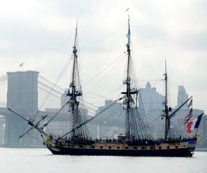 Hermione and the Spirit of Lafayette return to the U.S.