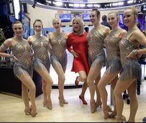 Christie Brinkley lights the New York Stock Exchange Christmas Tree