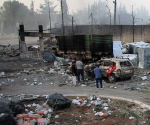 Aftermath of deadly aid convoy bombing as cease-fire ends in Syria