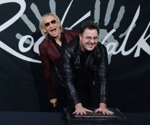 Vince Gill is inducted into Hollywood's RockWalk in LA