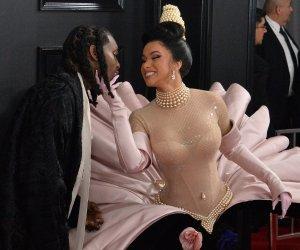Cardi-B,-Lady-Gaga-walk-the-Grammy-red-carpet