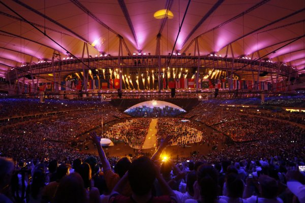 In pictures: Lighting of the cauldron at the Rio 2016 ...