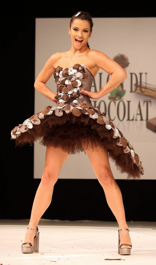On the runway at the 22nd annual salon du chocolat in for Salon du bio paris