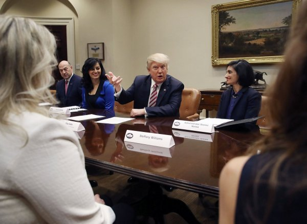 President Trump attends women in healthcare panel at The White House