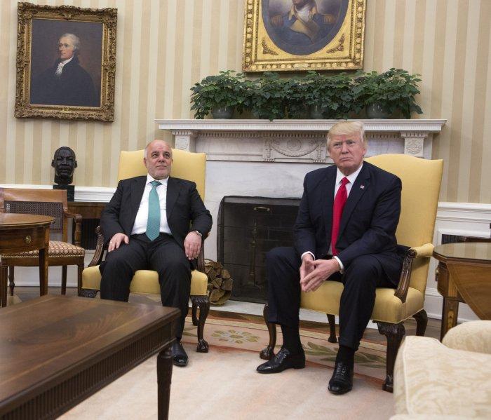 President Trump meets with Iraqi PM Al-Abadi in Washington