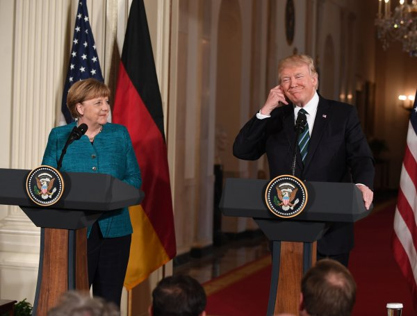 German Chancellor Merkel and President Trump hold press conference
