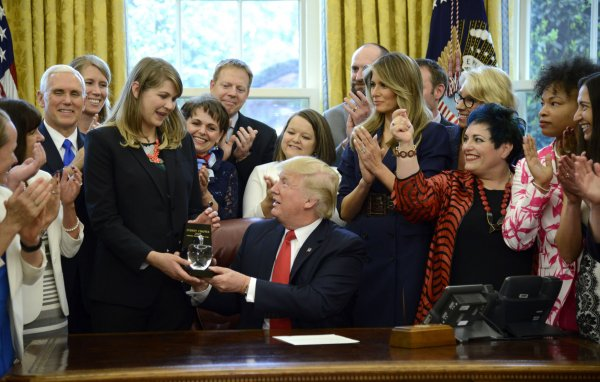 President Trump welcomes Teacher of the Year to the White House