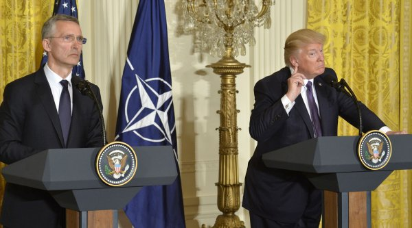 President Trump holds news conference with NATO's Stoltenberg