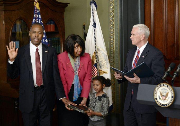 President Donald Trump's Cabinet members sworn in - UPI.com