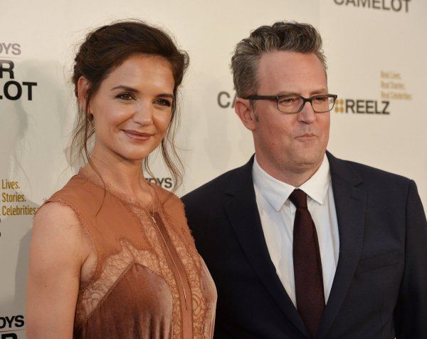"Katie Holmes and Matthew Perry attend screening of Reelz's ""The Kennedys: After Camelot"" in Beverly Hills"