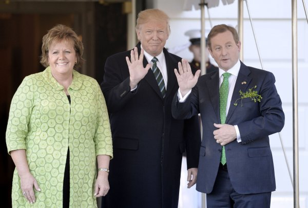 U.S. President Donald Trump hosts the Taoiseach of Ireland