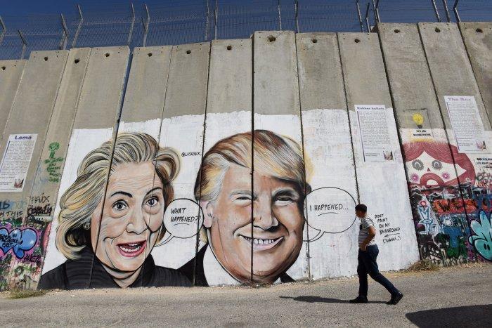 In photos artist puts donald trump mark zuckerberg on for Eminem wall mural