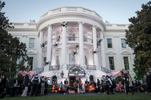 White House Decorated For Halloween Part - 41: About 6,000 Guests Attended The Celebration Including Schoolchildren, The  Boy Scouts, YMCA Groups And Military Families.