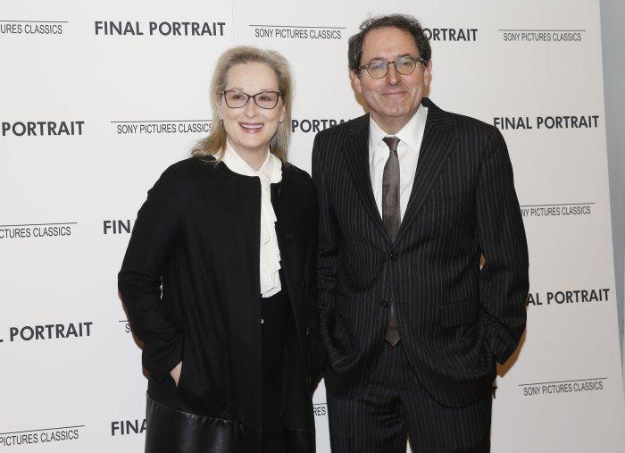 Meryl Streep and Michael Barker at the 'Final Portrait' New York Screening
