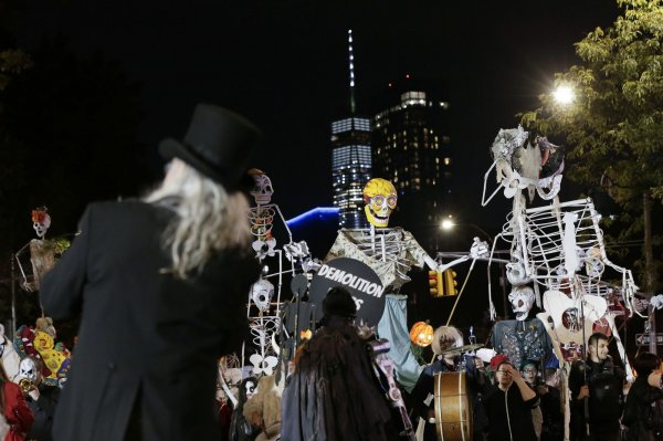 New York City Halloween Parade.In Photos Robots Zombies March In 45th Annual New York Halloween