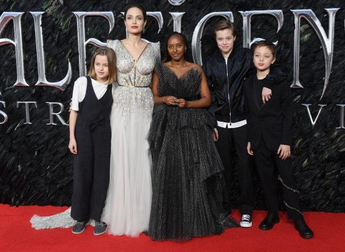 Elle Fanning Angelina Jolie Attend London Maleficent