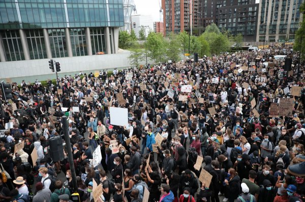 In Photos: Protesters demand justice in police killing of George Floyd