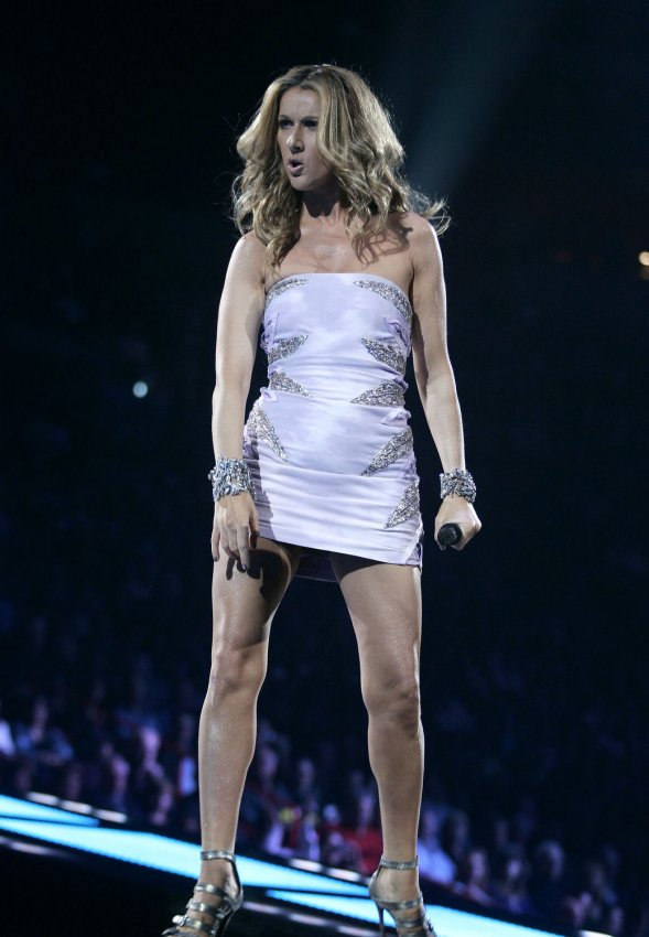Celine Dion performs in concert on her Taking Chances world tour at ...