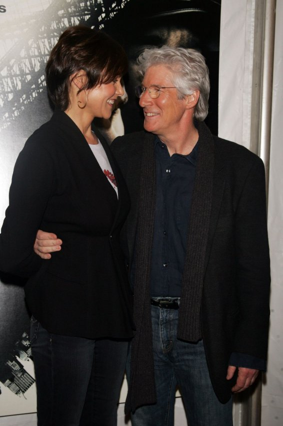 """Richard Gere and wife Carey Lowell arrive at """"Brooklyn's Finest"""" Premiere in New York"""