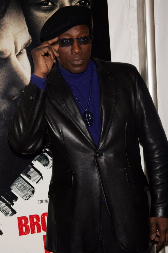 """Wesley Snipes arrives at """"Brooklyn's Finest"""" Premiere in New York"""